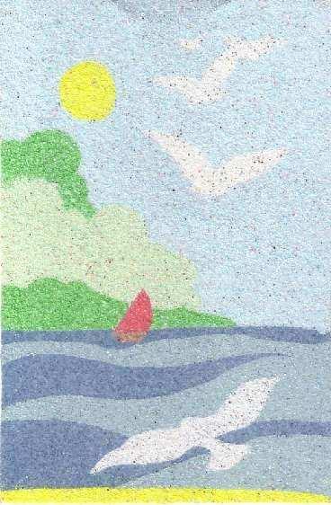 voil mes dessins en sable color - Dessin Sable Color